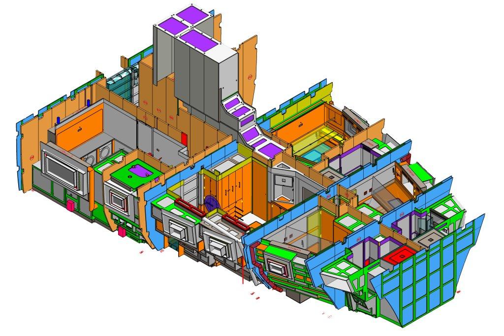 Pad project: progetto di arredamento nautico con progenio e Microstation