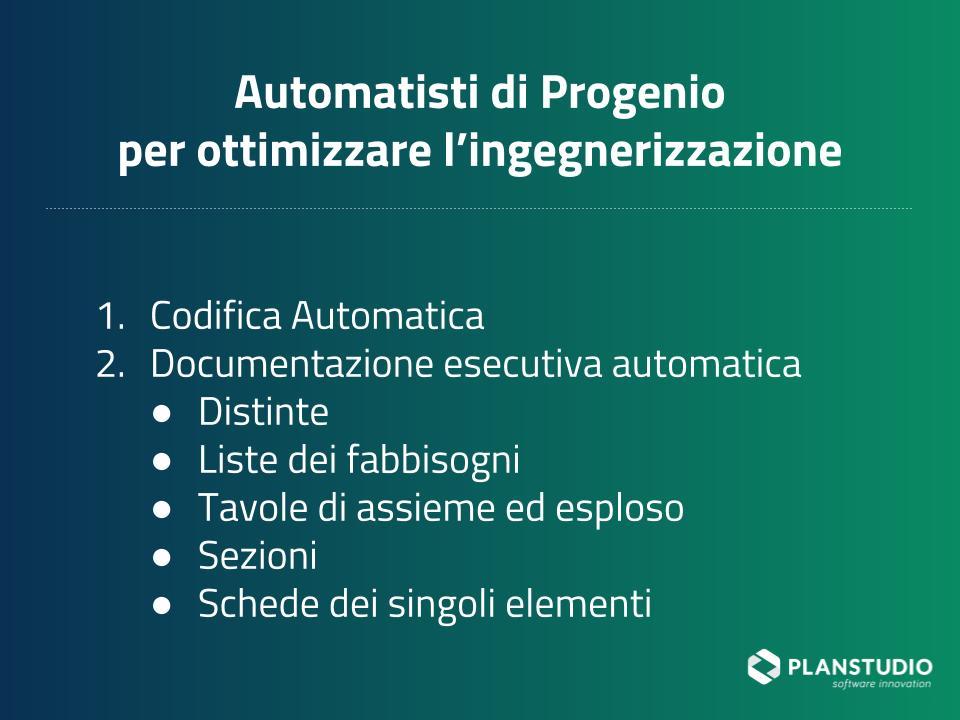 Automatismi di Progenio per gestire efficacemente commesse arredo contract