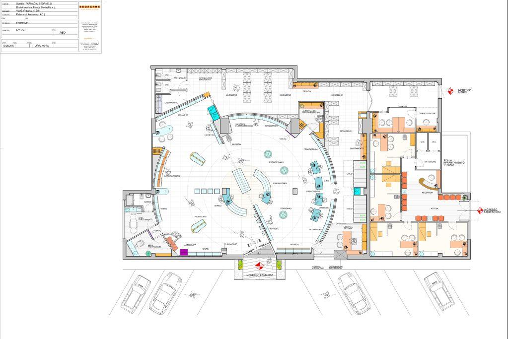 CAD 2D o 3D - la pianta di una farmacia Ekofarma-2