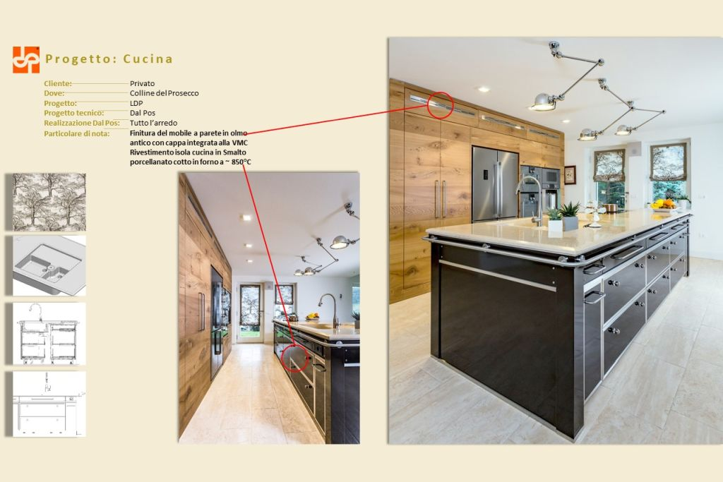 Dal Pos cucina progettata con progenio e microstation