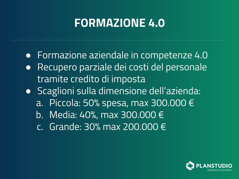 Formazione 4.0 in industria 4.0 per il 2019