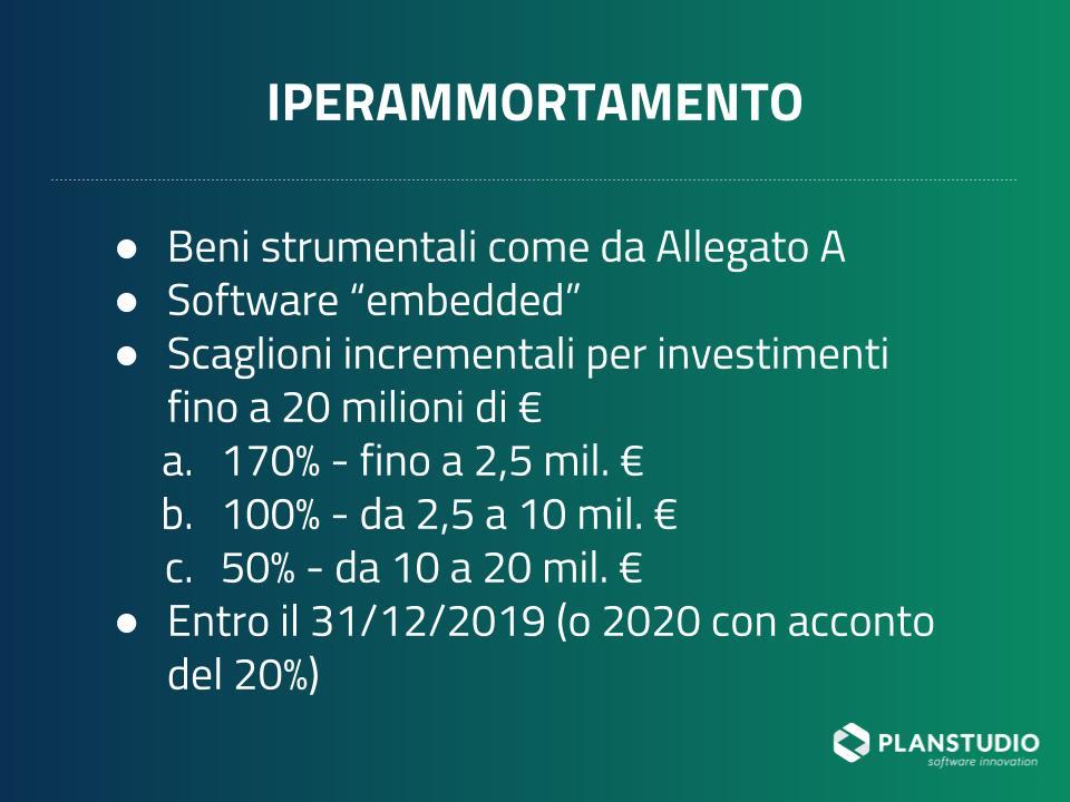 Iperammortamento in Industria 4.0 per il 2019