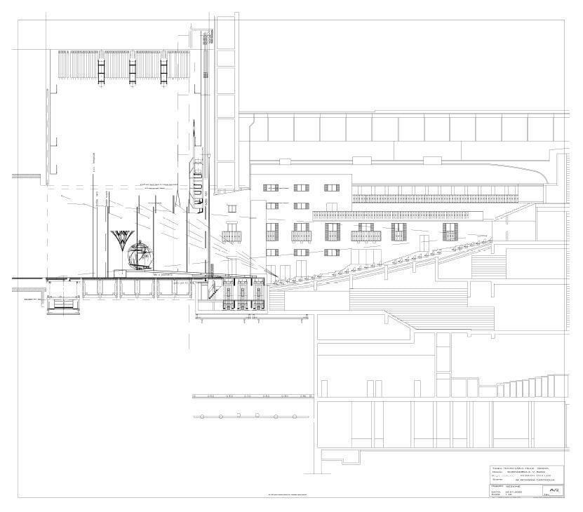La Sonnambula Sezione della Scenografia realizzata con MicroStation