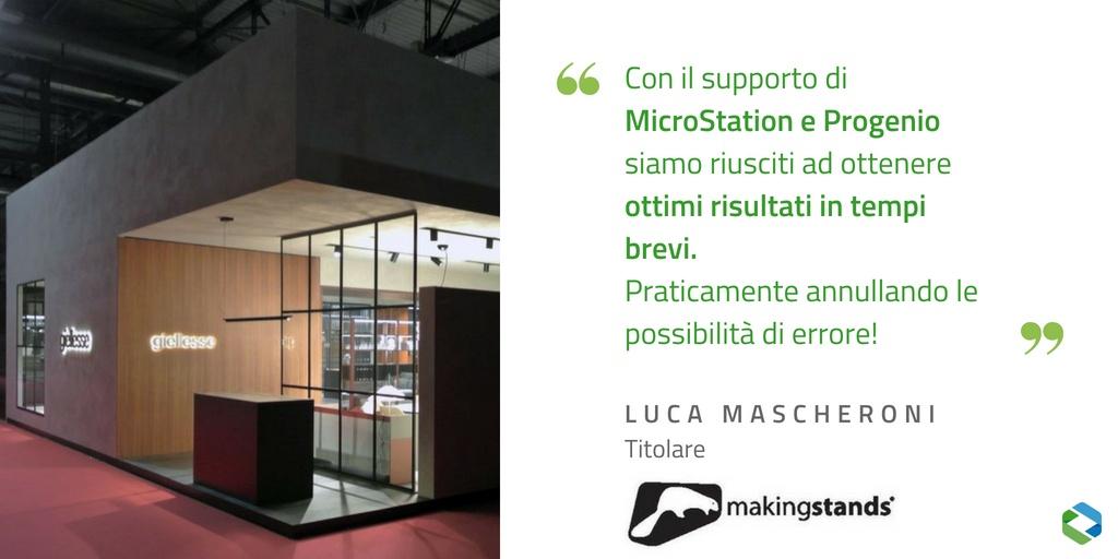 Making Stands e la realizzazione del progetto di stand Giellesse con MicroStation e Progenio