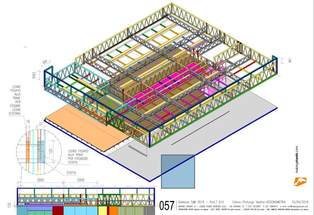 Making Stands, progetto di allestimento di stand fieristico per Giellesse con MicroStation e Progenio
