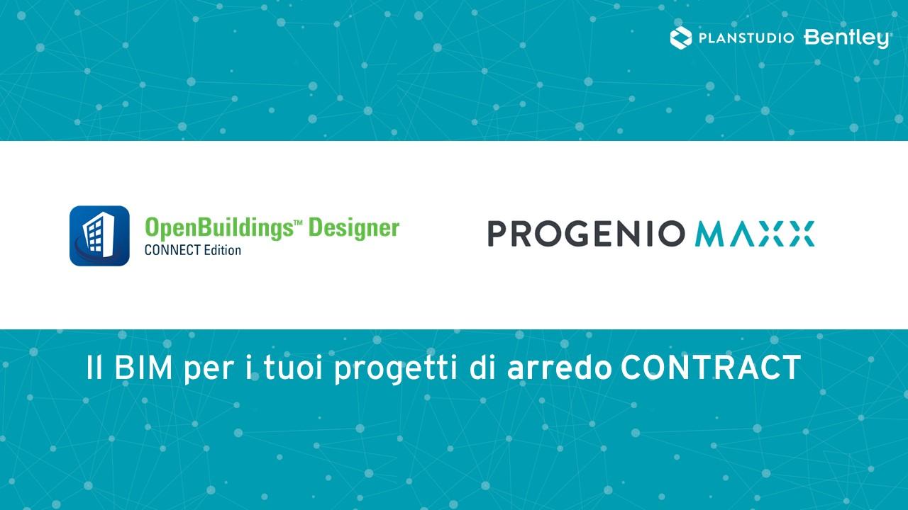 OPENBUILDINGs designer progenio maxx software di progettazione bim per arredo contract e su misura