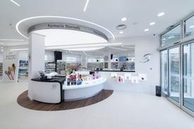 Progettazione di Arredo per farmacie stornelli Ekofarma