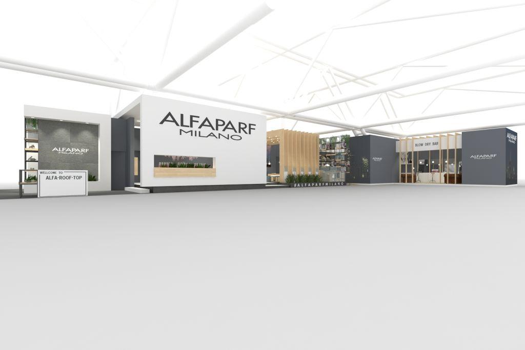 Stand Alfaparf per Cosmoprof realizzato da Fontemaggi con microstation e progenio