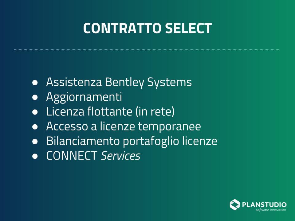 Vantaggi e servizi del Contratto SELECT per assistenza MicroStation
