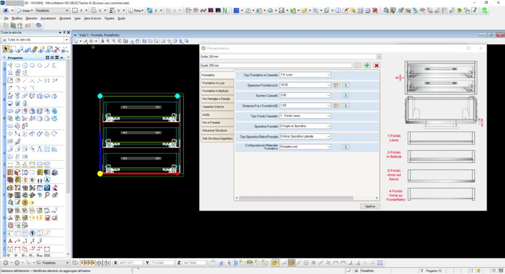 Vantaggi e svantaggi del disegno Parametrico - Microstation e Progenio