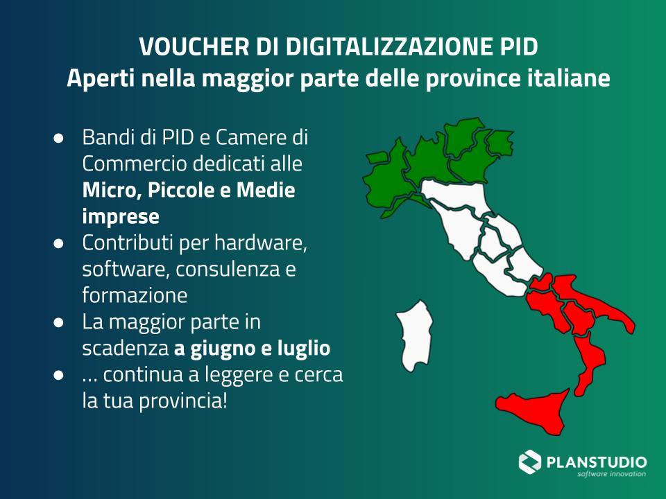 Voucher di digitalizzazione nelle province italiane in scadenza a giugno e luglio