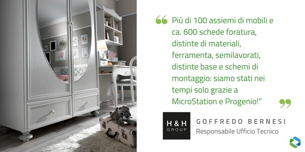 camerette h&h un esempio di progetto realizzato con Progenio e MicroStation