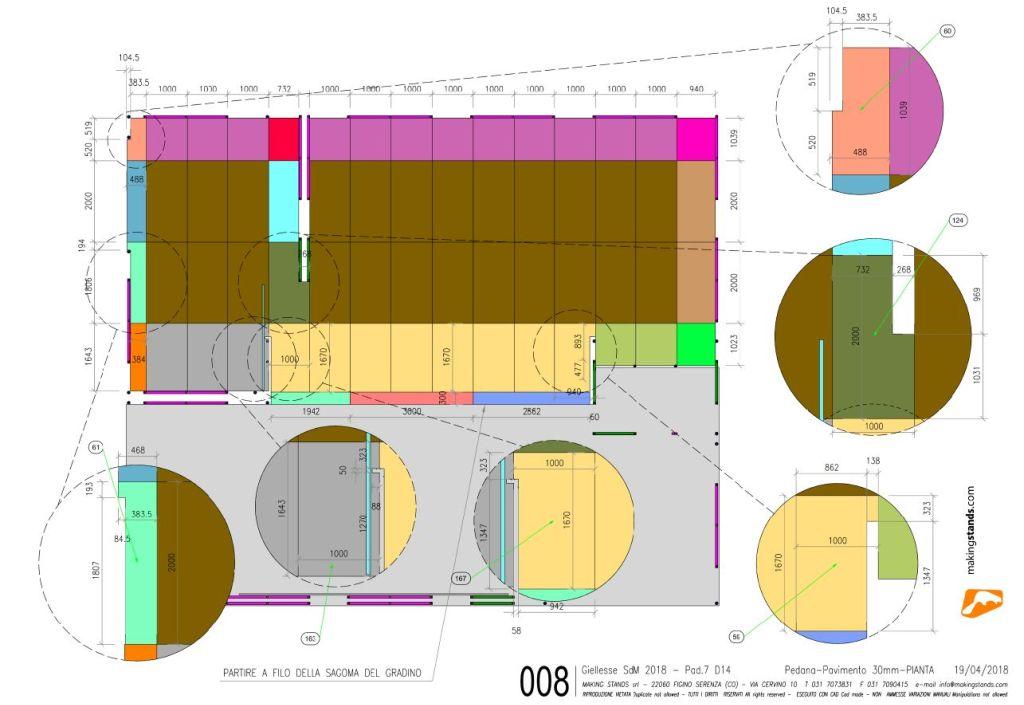 documentazione esecutiva del progetto di allestimento fieristico di Making Stands con Progenio e MicroStation