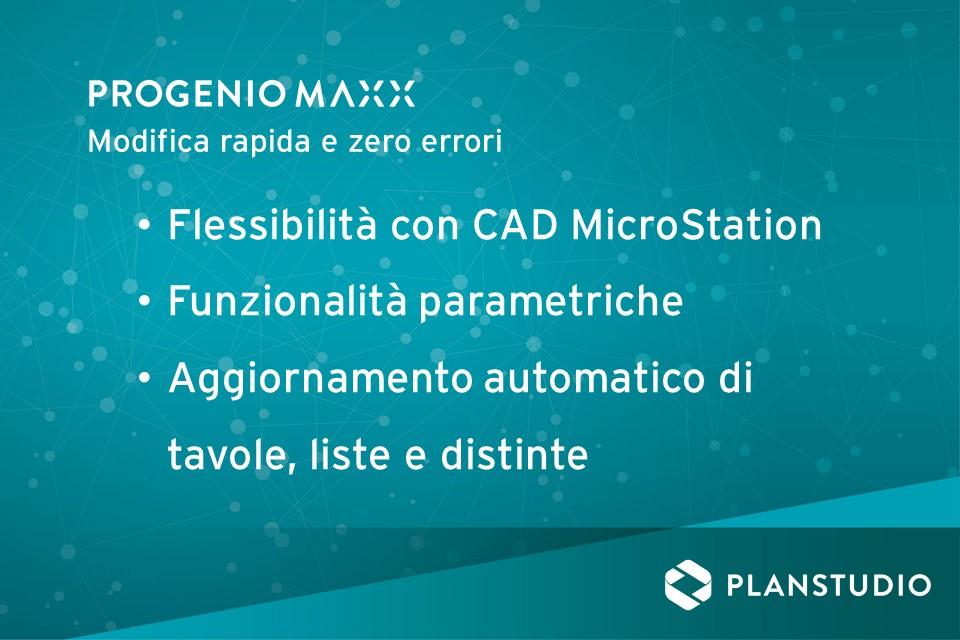 la modifica di progetto in PROGENIO MAXX