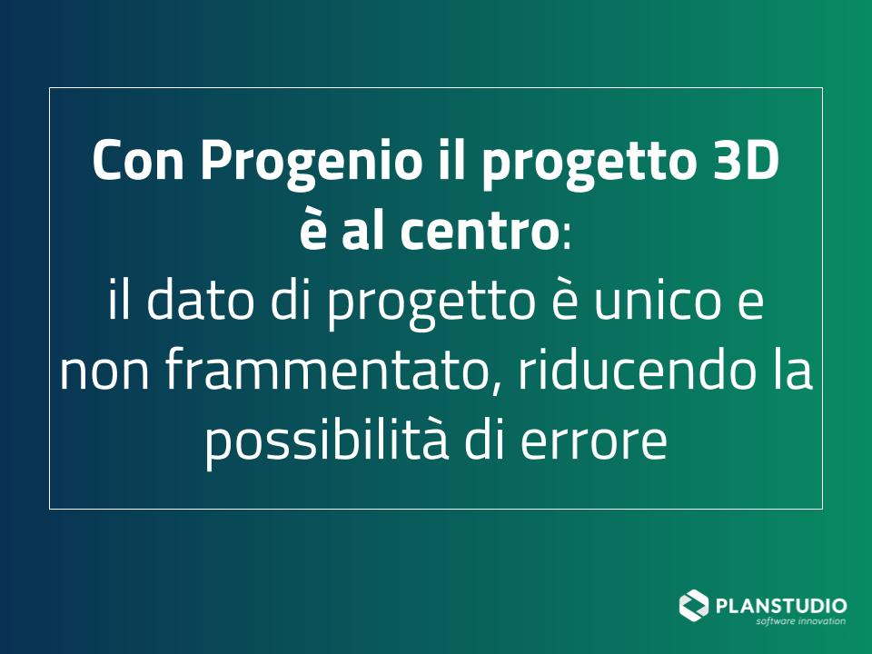 progetto 3d al centro per gestire efficacamente commesse contract Progenio